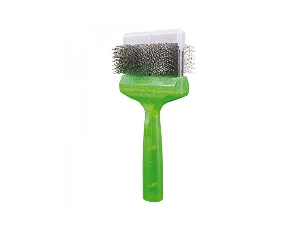 Kefa ActiVet Pro Brush Mega mäkká (zelená) 9 cm