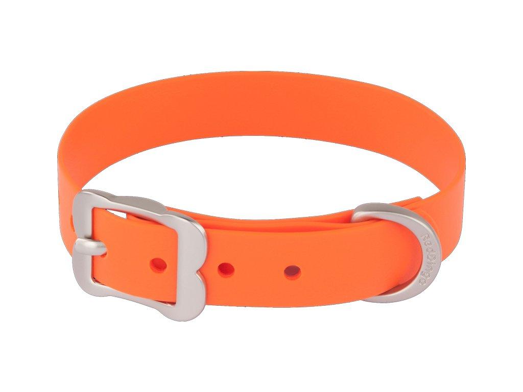 Vodeodolný oranžový obojok VIVID Red dingo