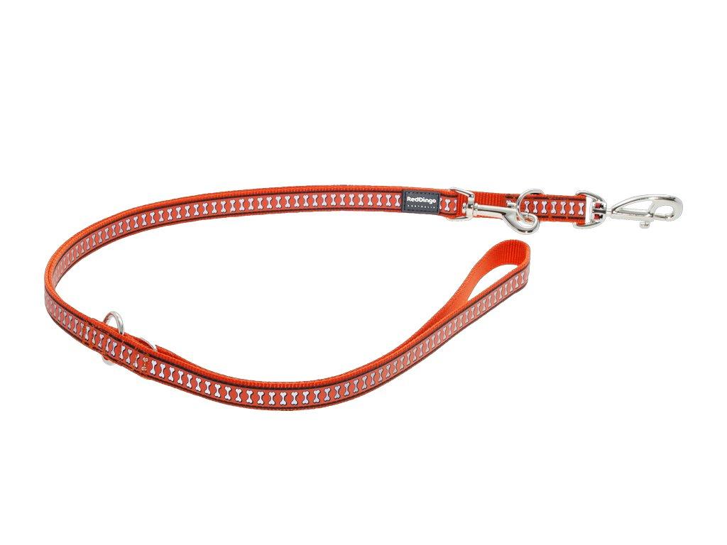 Reflexné prepínacie vodítko Red Dingo oranžové