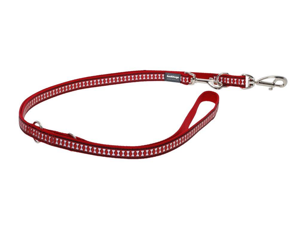 Reflexné prepínacie vodítko Red Dingo červené
