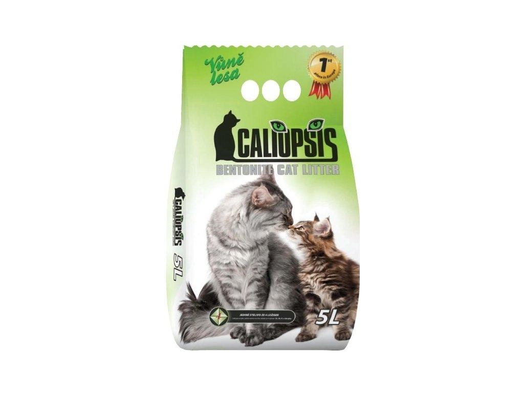Podstieľka pre mačky Caliopsis vôňa Les 5l