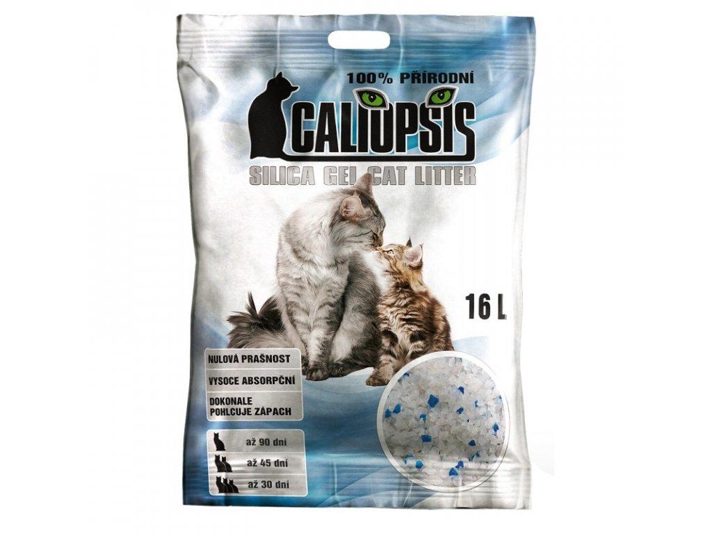 Podstielka pre mačky Caliopsis Silica gel 16l