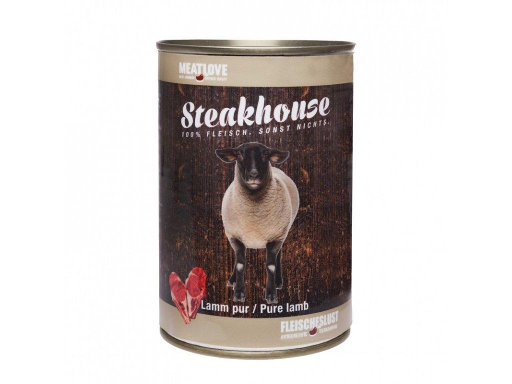 Konzervy STEAKHOUSE - 100% jahňacie mäso 400g