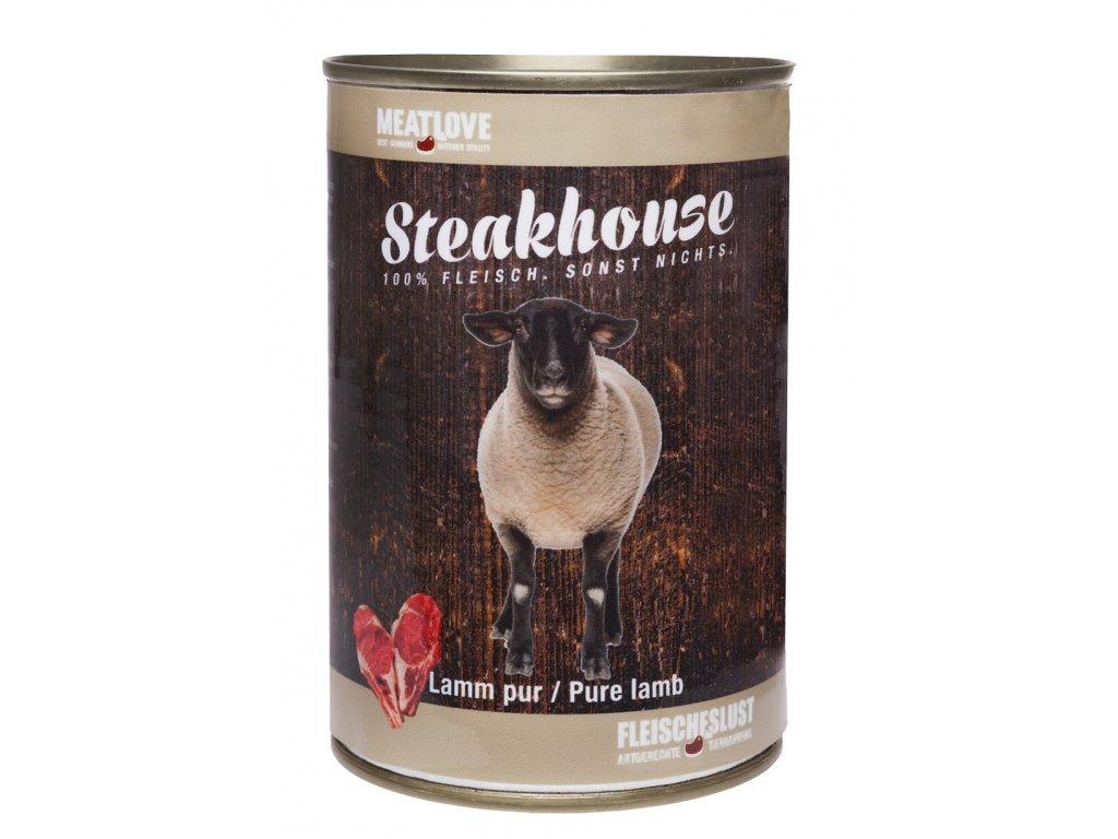 Konzervy STEAKHOUSE - 100% jahňacie mäso 800g