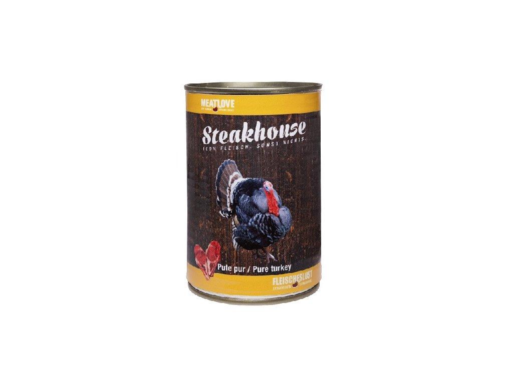 Konzervy STEAKHOUSE - 100% morčacie mäso 400g