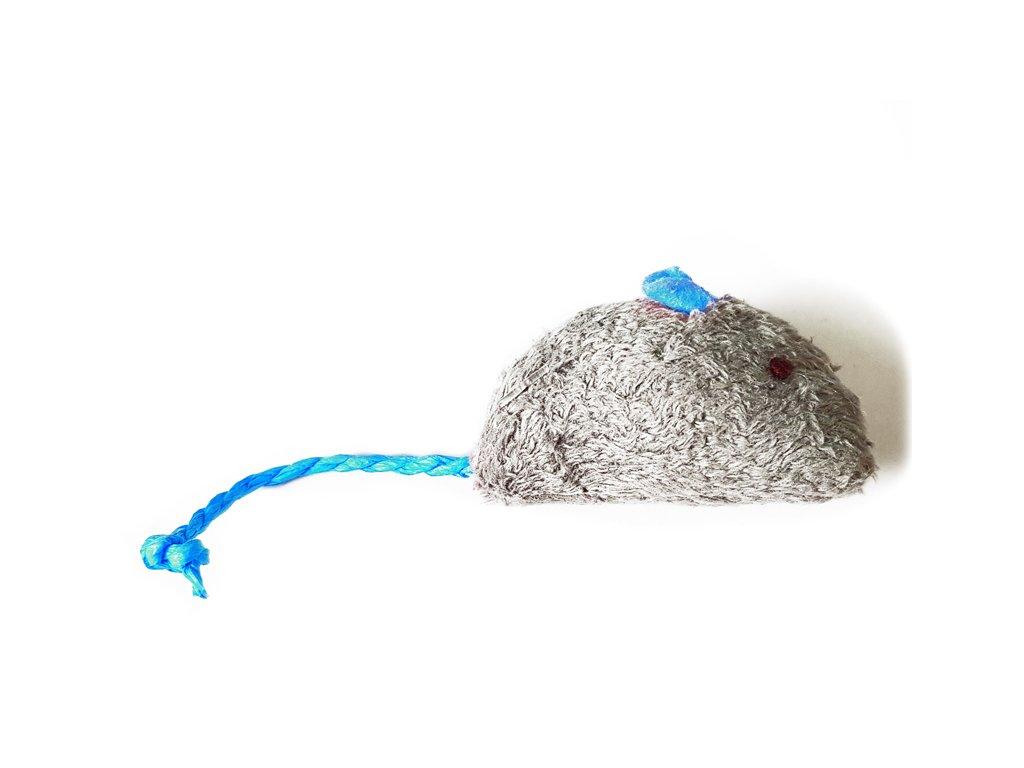 Hračka pre mačky myška s povrázkovým chvostom