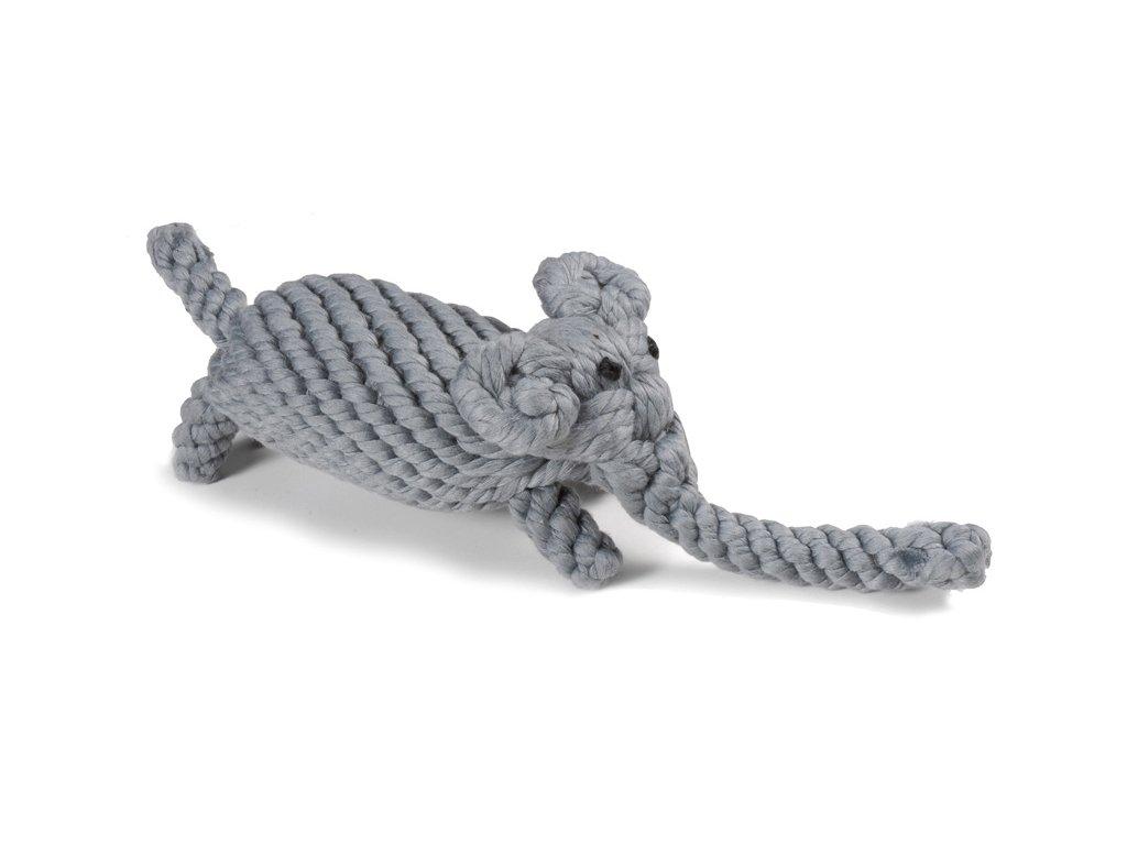 Bavlnená hračka pre psa uzol slon