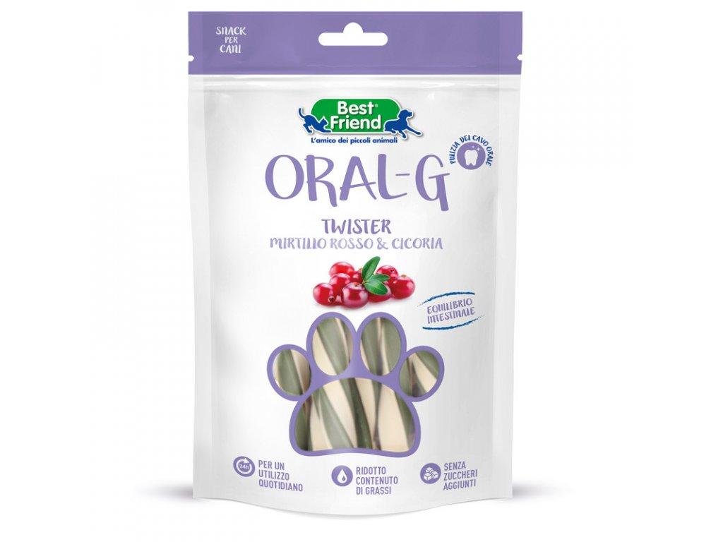Dentálne pamlsky pre psy ORAL-G brusnicami na zuby a trávenie