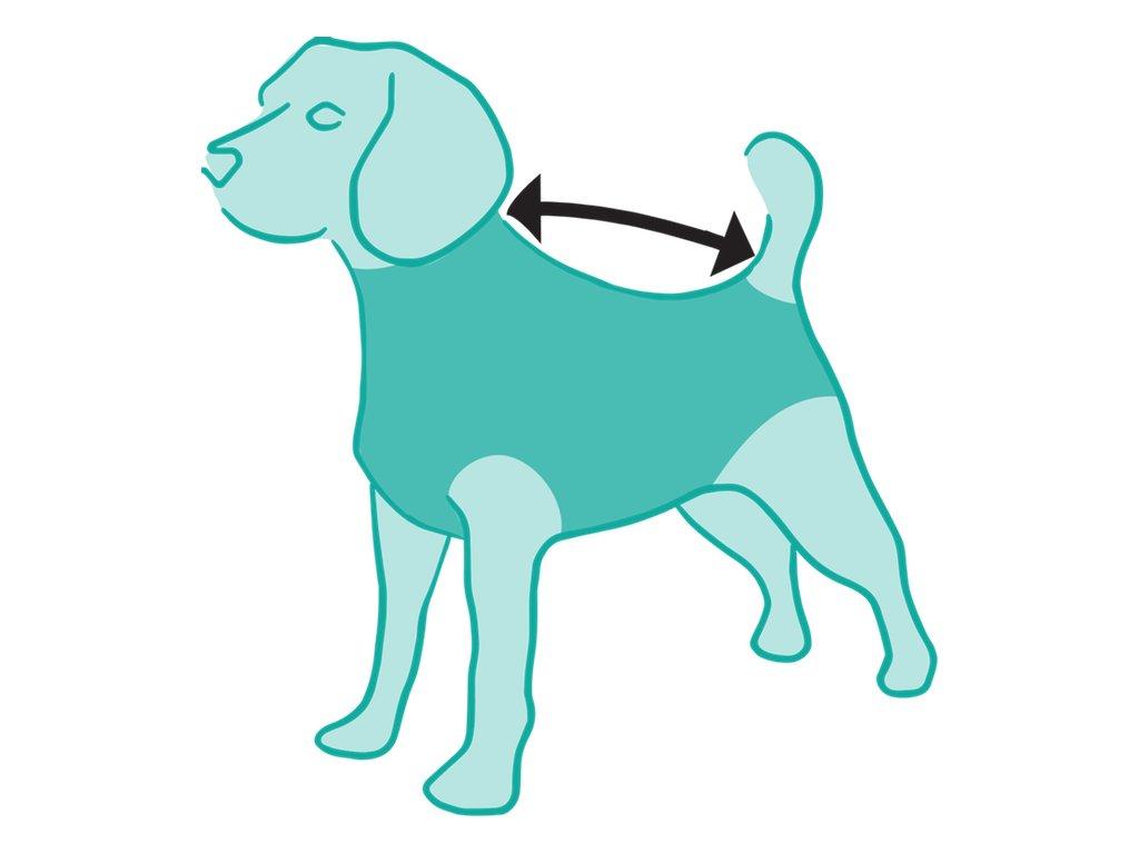 bba727aedd9e ... a inkontinencii Pooperačné ochranné oblečenie pre psa modré