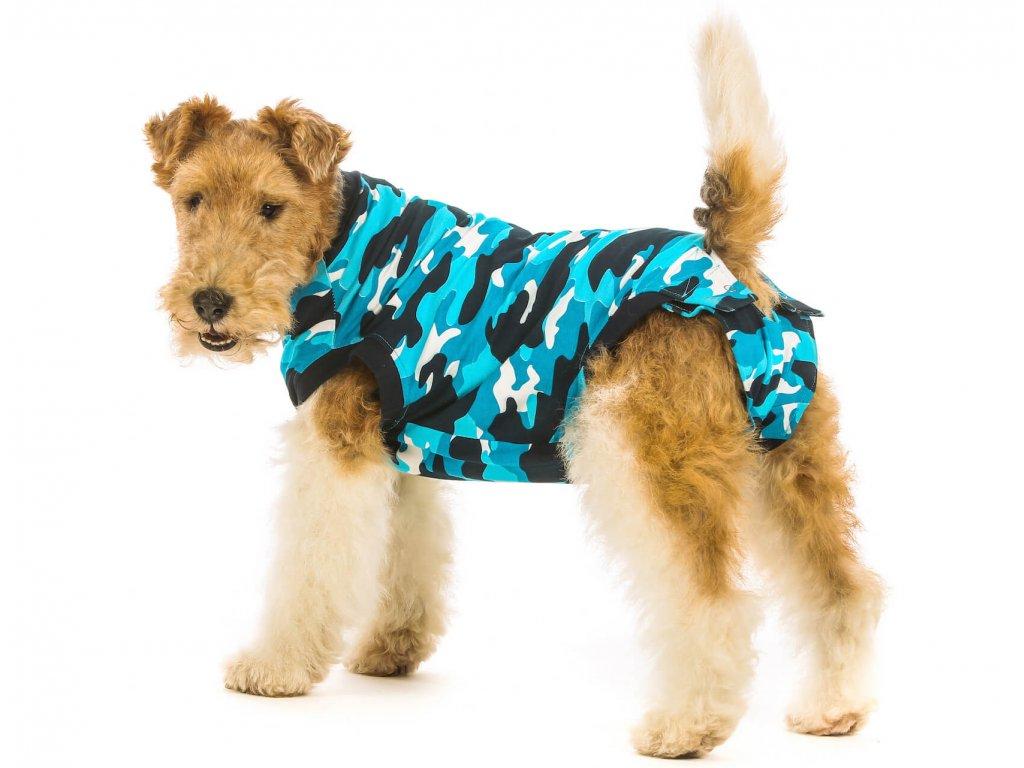 e8f0502888b0 Pooperačné ochranné oblečenie pre psa modré - www.crazypaws.eu