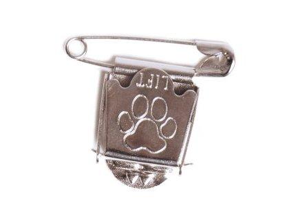 klip na výstavné císlo pre vystavovateľa psa