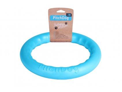 plávajúce preťahovadlo pre psa modrej farby