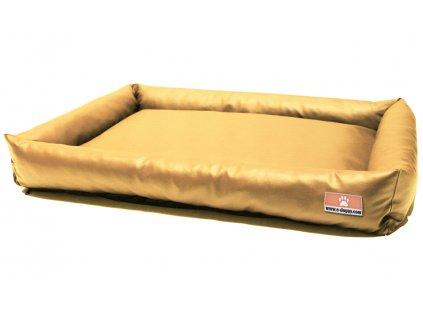 """Kvalitný pelech pre psa z eko kože BASIC """"XS"""" pieskový"""