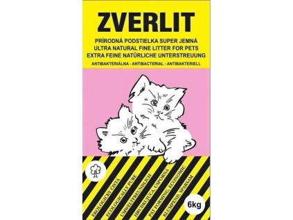 Zverlit veľmi jemná prírodná podstielka bez vône pre mačky 6 kg - ružová.