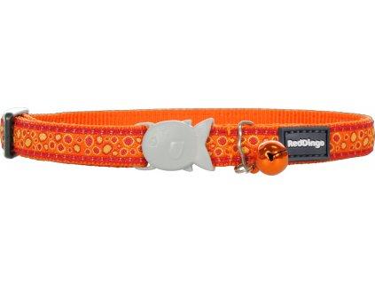 Nylonový obojok pre mačku RED DINGO Bedrock oranžový