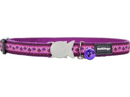 Nylonový obojok pre mačku RED DINGO karneval fialový