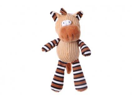 plyšová pískacia hračka pre psa koník