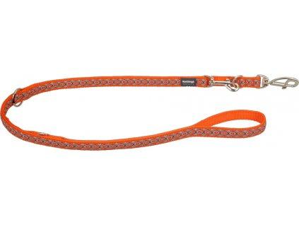 Prepínacie vodítko Red Dingo SNAKE EYES oranžové