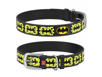 Kožený obojok Batman DC COMICS čierny