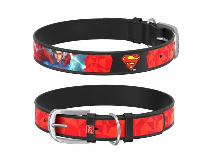 Kožený obojok Superman DC COMICS čierny