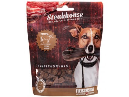 Odmeny pre psa STEAKHOUSE training minis - konské mäso 100g