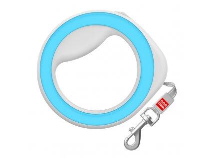 Okrúhle samonavíjacie vodítko pre psa modré