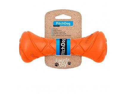 Činka pre psov Pitchdog oranžová