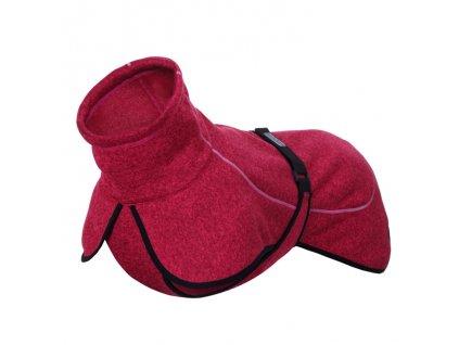 Flísové oblečenie pre psa Rukka Comfy Knit ružové