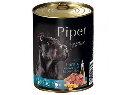 Konzerva pre psa Piper s jahňacinou, mrkvou a hnedou ryžou 800g