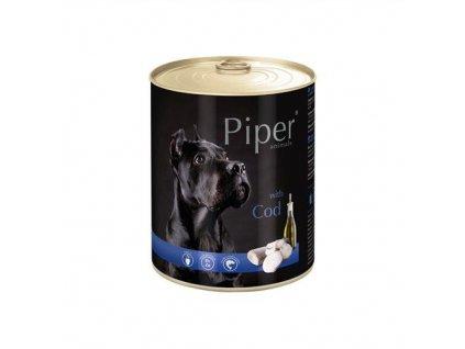Konzerva pre psa Piper s treskou 800g