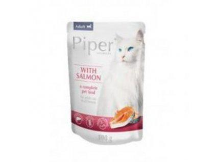 Kapsička pre mačky PIPER s lososom 100g