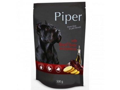 Kapsička pre psa Piper s hovädzou pečeňou so zemiakmi 500g