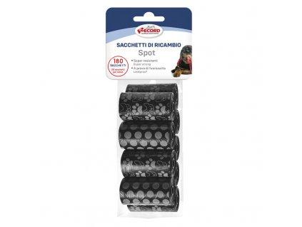 Náhradné sáčky na psie výkaly čierne so vzorom