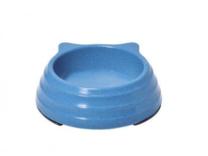Bambusová miska pre mačku modrá
