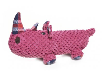 Plyšová pískacia hračka pre psa FAT BOYS nosorožec