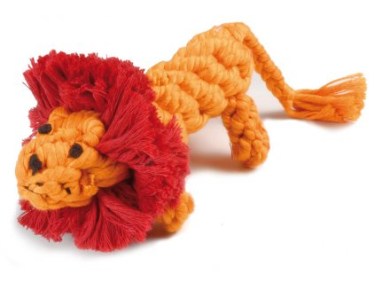 Bavlnená hračka pre psa uzol lev