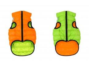 teple oblecenie pre psa oranzovo zelene