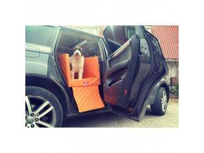 prepravka pre psa do aut na zadne sedadlo eko koža