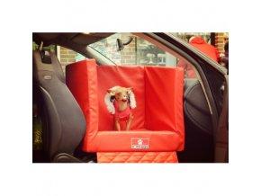 Preprevka pre psa do auta z eko kože TRANSPORTER