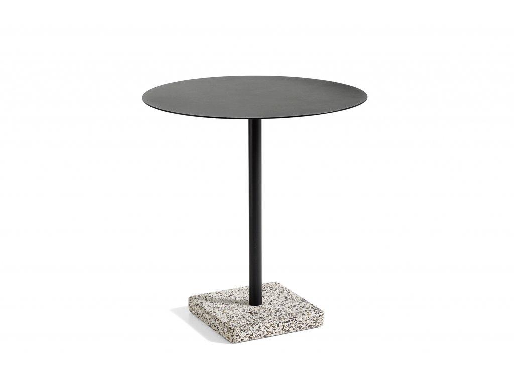 1952132009000 Terrazzo Table Round dia70 Grey base Anthracite top