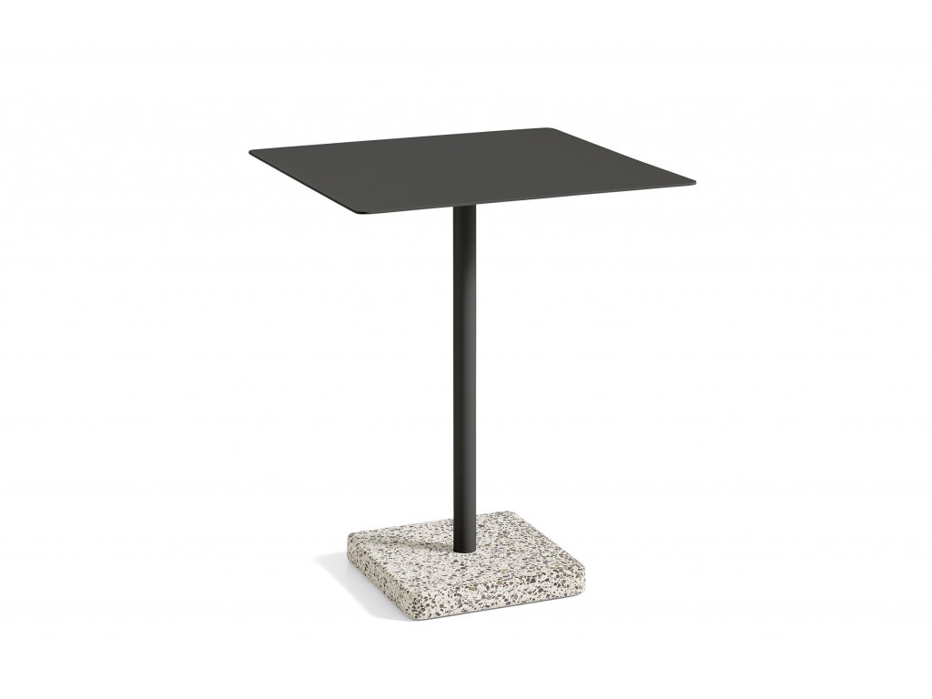 1952532009000 Terrazzo Table Square 60x60 Grey base Anthracite top