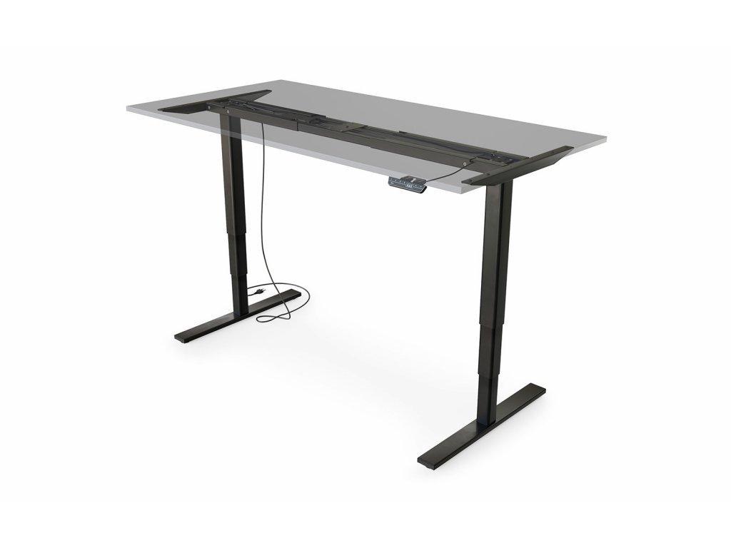 cre8 FLEXI SitStand 160x80 cm (černý rám, bílá deska)