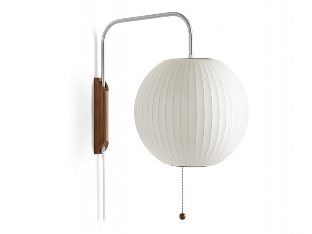 bubble lamp sconce ball george nelson herman miller 1