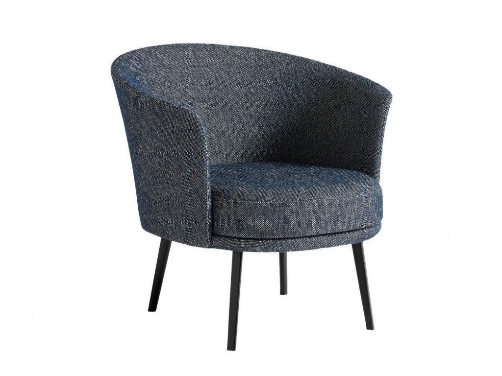 Hay DORSO - black powder coated steel / Fairway dark blue 308-288
