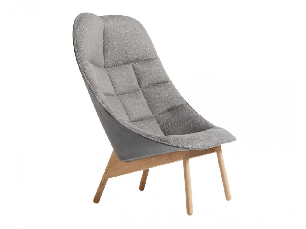 Hay UCHIWA QUILT - lacquered solid oak, Roden 05/Lola warm grey