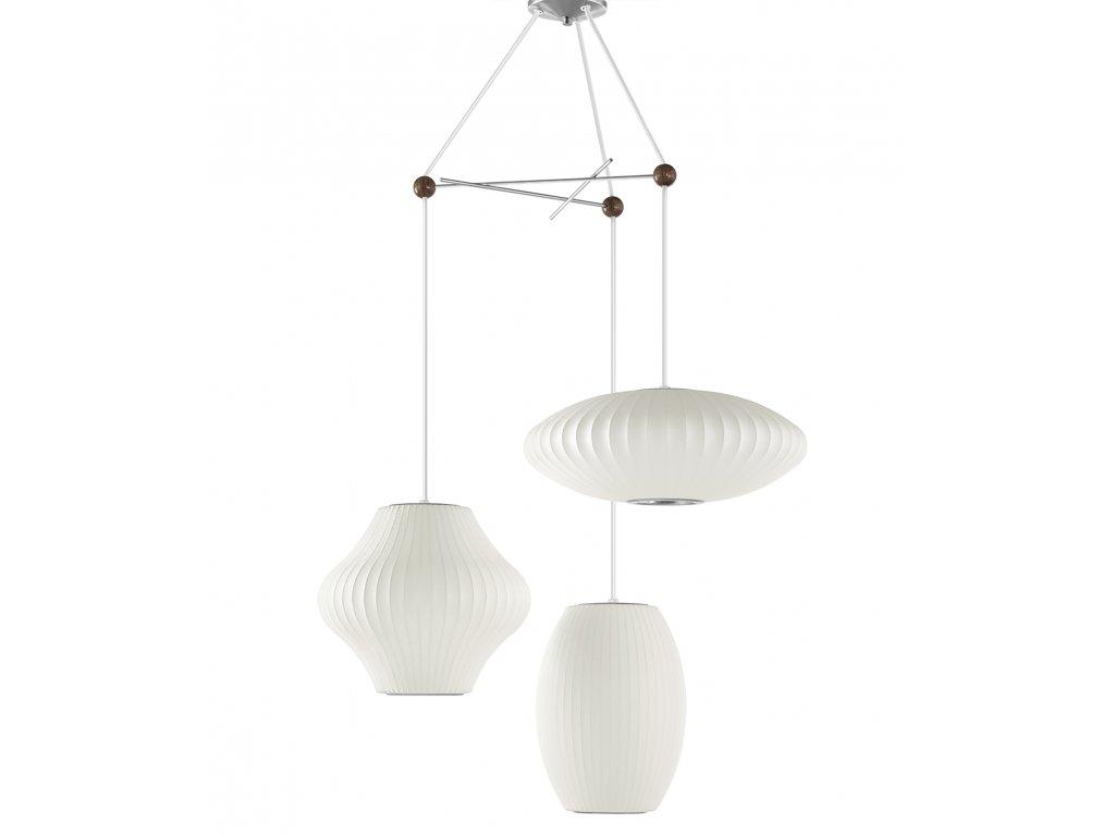 HermanMiller Nelson Bubble Lamp TRIPLE PENDANT FIXTURE