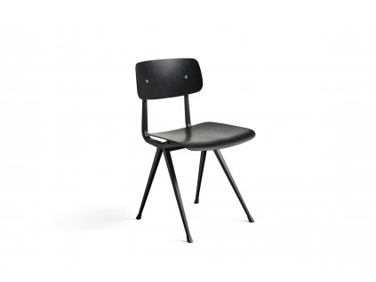 257341 Result Chair Frame black black wb lacquer oak seat and base