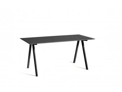 2635002019000 CPH 10 Desk L160xW80 black lino black wb lacquer oak base