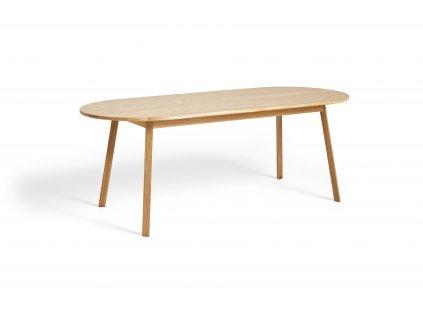 2575011509000 Triangle Leg Table L200xW85xH74 wb lacquer oak