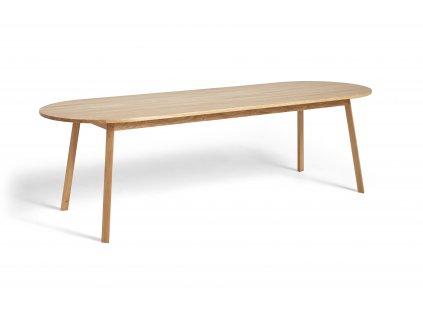 2575021509000 Triangle Leg Table L250xW85xH74 wb lacquer oak